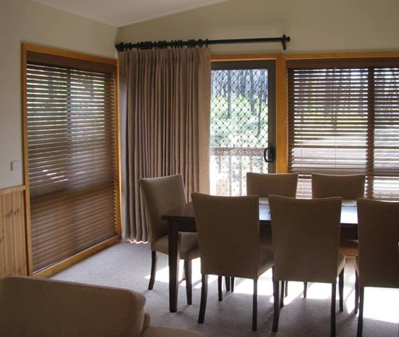 Curtains and Timber Venetians